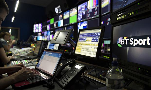 BT Sport's master control room.